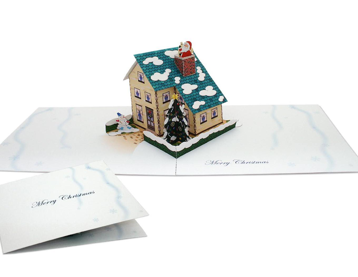 Дом из открыток на новый